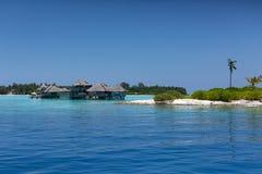 maldives Centro turístico de los chalets del agua Imagenes de archivo