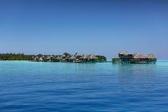 maldives Centro turístico de los chalets del agua Imagen de archivo
