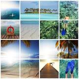 Maldives collage Stock Image