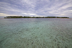 Maldives coral island scenery Stock Images