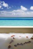 Maldives, cuarto de baño con la visión Fotos de archivo