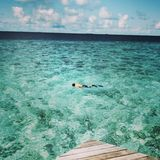 Maldives. The deep blue sea and very nice place in the world. Place for remenber royalty free stock photos