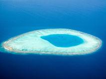 Died island. A died Maldives island in deep Indian ocean royalty free stock images