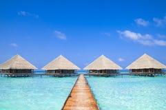 Maldives Dock Royalty Free Stock Photography