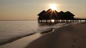 Maldives, dusk stock footage