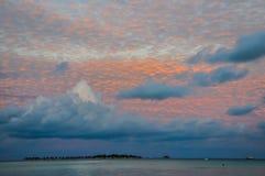 Cloudy sky at Maldives Royalty Free Stock Photography