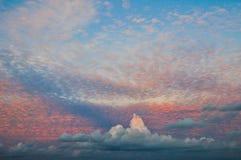 Cloudy sky at Maldives  Stock Image