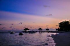 Sunset at Maldives  Royalty Free Stock Photography