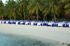 Maldives Fine Dining. Fine dining on the beach at Maldives royalty free stock images