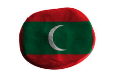 Maldives flag,flag clay on white background Stock Photos
