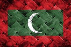 Maldives flag, flag on the wood Royalty Free Stock Photos
