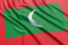 Maldives flag Stock Photo