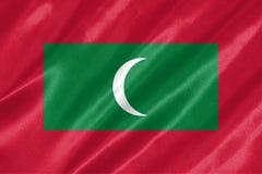 Maldives flaga zdjęcie royalty free