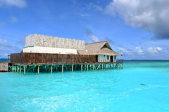 Maldives Floating Restaurant Royalty Free Stock Images