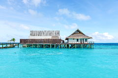 Maldives Floating Restaurant. Eastphoto, tukuchina,  Maldives Floating Restaurant Royalty Free Stock Photo