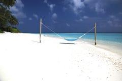 Maldives hammock Royalty Free Stock Image