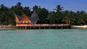 Maldives. houses on piles on water stock video