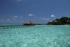 Maldives. Idyllic Scene of a Tropical Island Royalty Free Stock Photography