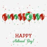 Maldives Independence Day Sparkling Patriotic. Maldives Independence Day Sparkling Patriotic Poster. Happy Independence Day Card with Maldives Flags, Confetti Royalty Free Stock Photos