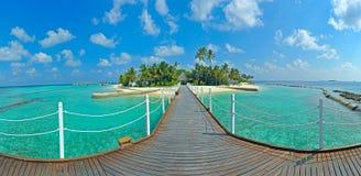 Maldives-Insel Panorama Stockfoto