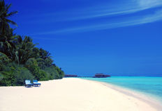 Maldives island. The sunny picture from Maldives Mehufushi stock photos