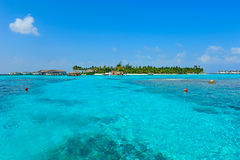 Maldives island with blue sea Stock Photography