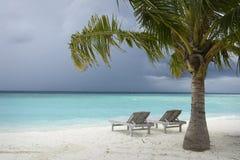 Maldives Island Monsoon Stock Photography