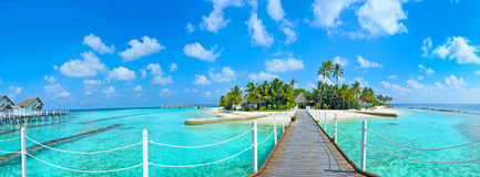 Maldives island panorama Royalty Free Stock Image