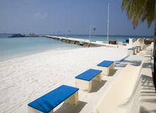 Maldives island resort Royalty Free Stock Photography