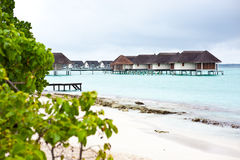 Maldives island resort Stock Image