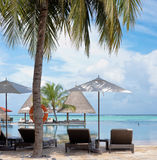 Maldives island resort Royalty Free Stock Image