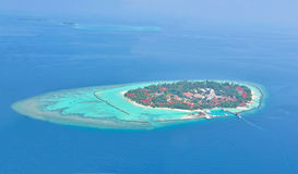 Maldives island from sky Stock Photo