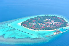 Maldives island from sky Royalty Free Stock Photos