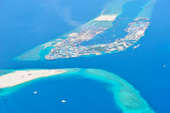 Maldives island from sky Stock Photos