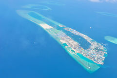 Maldives island from sky Royalty Free Stock Images