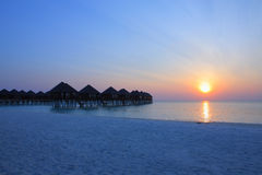 Maldives island sunrise Stock Image