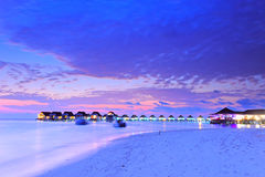 Maldives island sunset Stock Photography