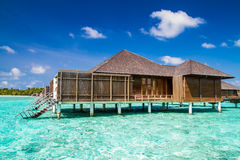 Maldives island, water villas resort Stock Image