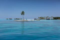 maldives Isola tropicale Località di soggiorno delle ville dell'acqua Fotografia Stock Libera da Diritti