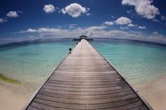 Maldives jetty Obraz Stock