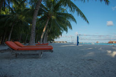 Maldives Kani wyspa Apr 2015 Obraz Royalty Free