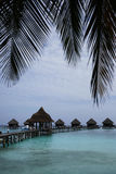 Maldives kurort na wyspie Obraz Royalty Free