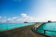 Maldives kurortu most Zdjęcie Royalty Free