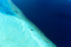 Maldives lagoon and the Indian Ocean Royalty Free Stock Images