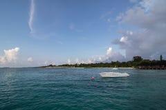Maldives. Landscape of Maldives - Olhuveli Beach & Spa Maldives, Sum Siyam Resorts stock images