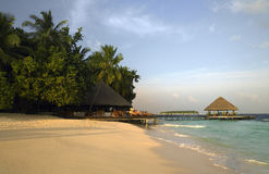 Maldives Luxury Beach Resort Royalty Free Stock Photos