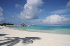 Maldives, Male South Atoll - The white sandy beach Stock Photos
