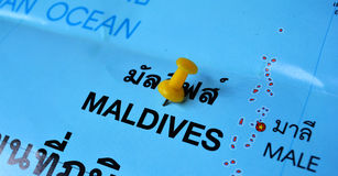 Maldives map Stock Photography