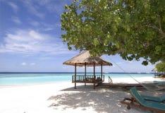Maldives-Meerblick Lizenzfreie Stockfotos