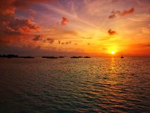 Maldives in the morning. royalty free stock images